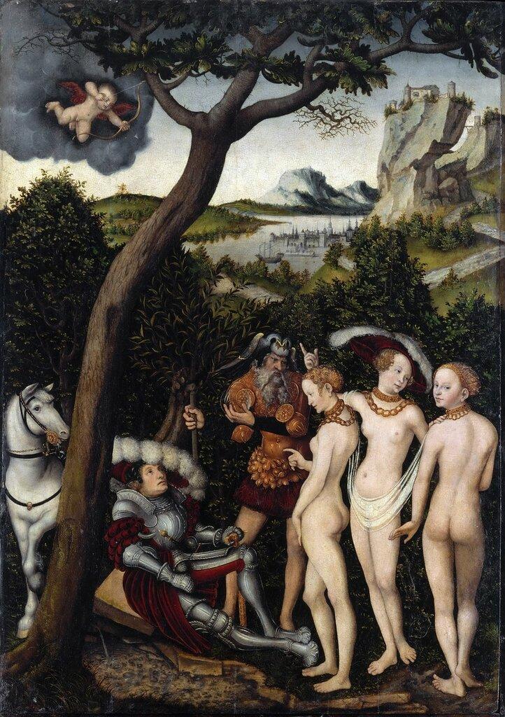 Суд Париса (The Judgment of Paris)_ок.1528_101.9 х 71.1_д.,м._Нью-Йорк, музей Метрополитен.jpg
