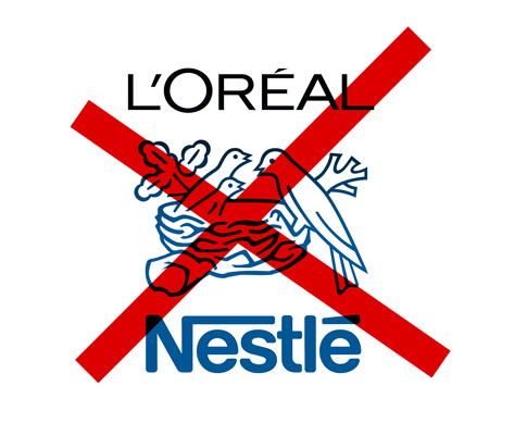 boycott L'Oreal and Nestle!