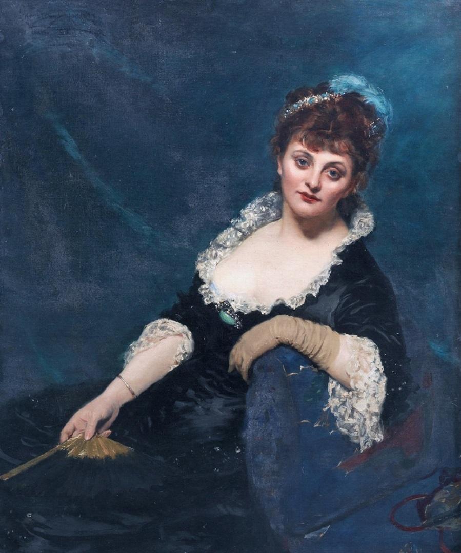 Mrs Harry Vane Milbank, neé Alice Sidonie Van den Bergh, by Charles Emile Auguste Carolus-Duran