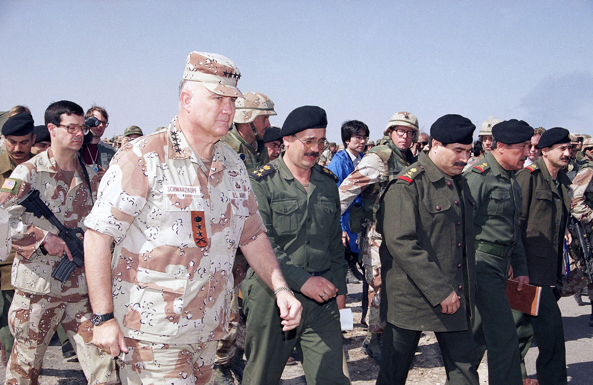 Gen. H. Norman Schwarzkopf and Lt. General Sultan Hashim Ahmad