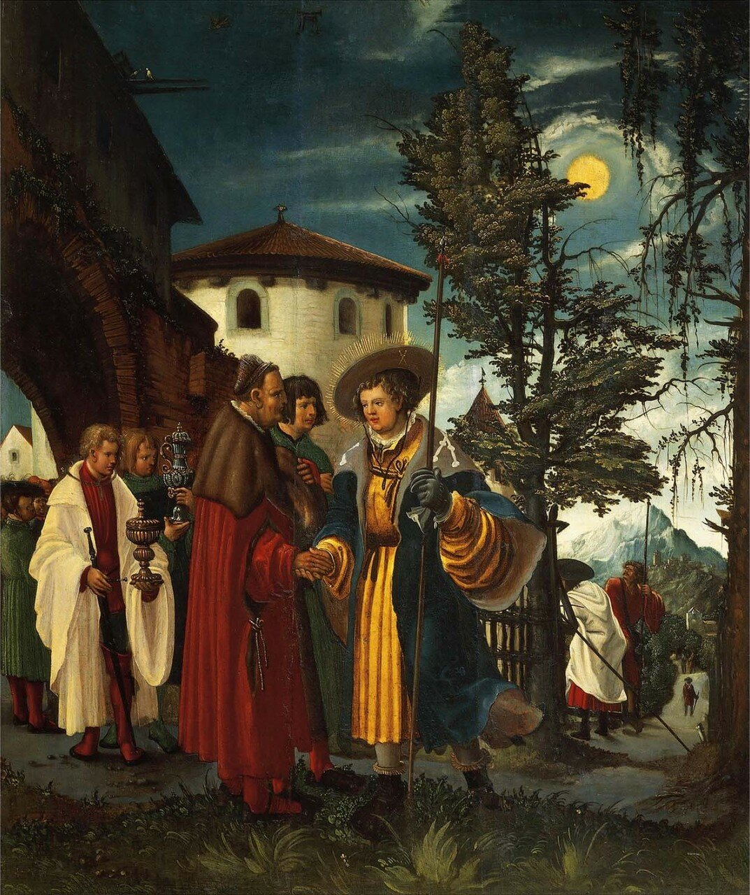 St Florian taking leave of the Monastery, 1530, by Albrecht Altdorfer (1480-1538).