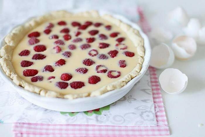 Малиновый пирог с белым шоколадом   современные кулинарные рецепты