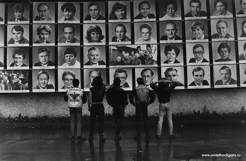 Съемка для немецкого журнала Blickpunkt. Фото Петры Галл, Москва, 1987.