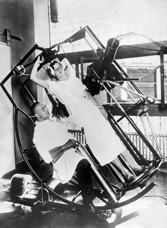 Одно из самых продвинутых, но странных приспособлений в институте Рентгена. Современная машина, кото