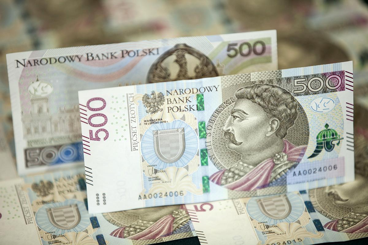 Нацбанк Польши ввел вобращение банкноту номиналом в500 злотых