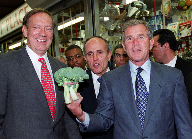 George W. Bush wasn't as militant against broccoli, but he preferred cauliflower. With less t