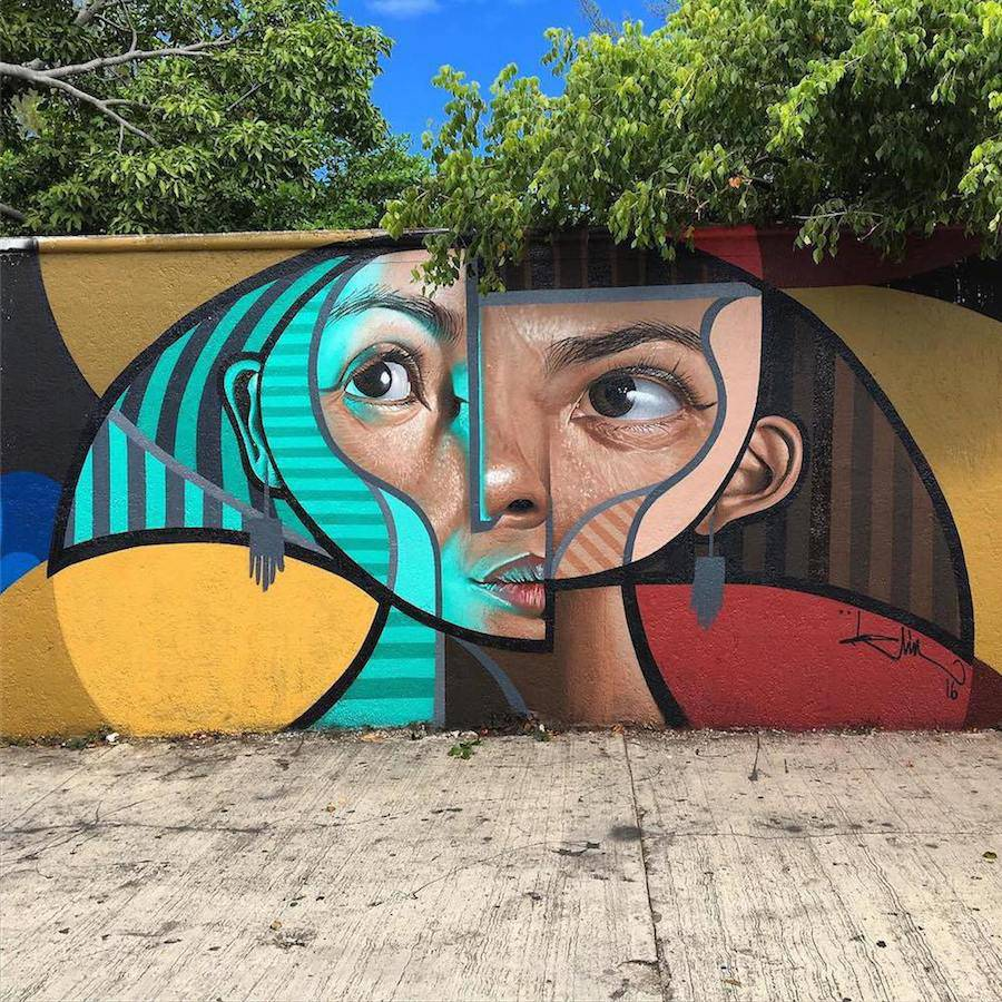 Creative and Colorful Cubist Murals by Belin