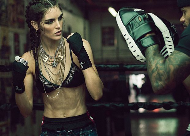 Hilary Rhoda Star in Harper's Bazaar Turkey January 2017 Cover Story