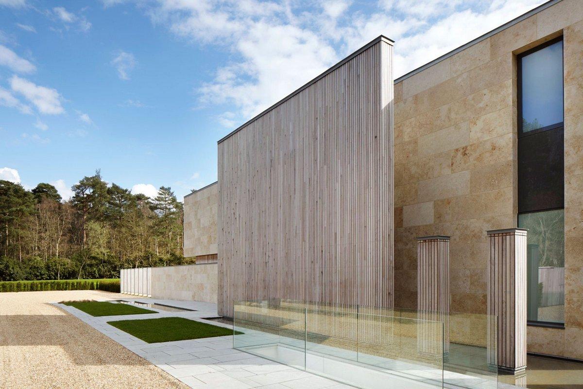 вариант оформления фасада частного дома