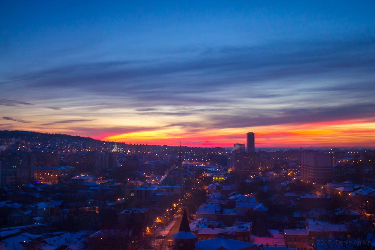 Саратов зима рассвет фото 1