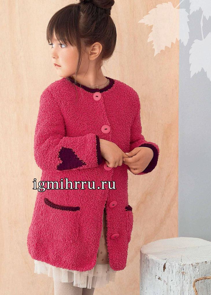 Вязание спицами пальто на девочку 10 лет