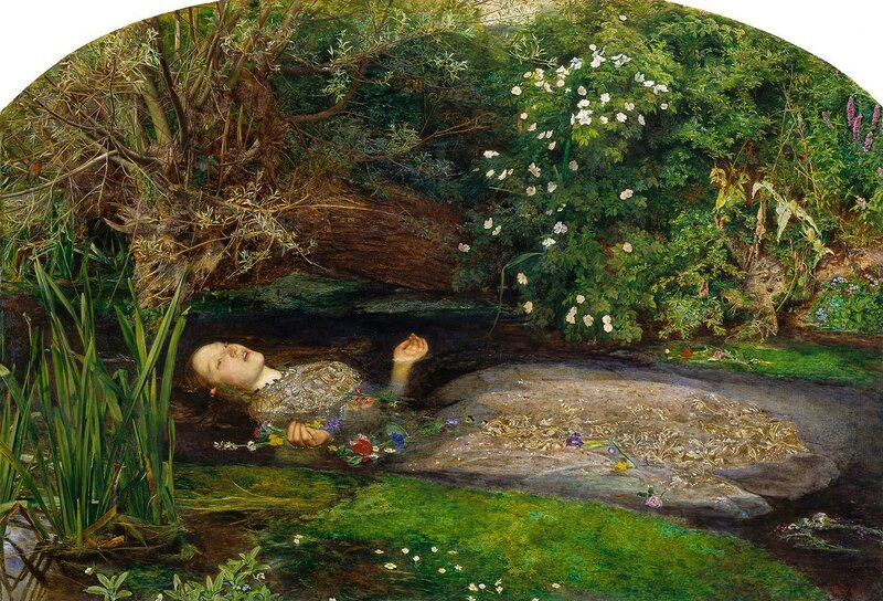 John Everett Millais. Ophelia (1851-1852)