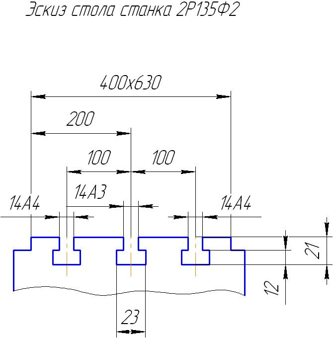 Стол станка 2Р135Ф2