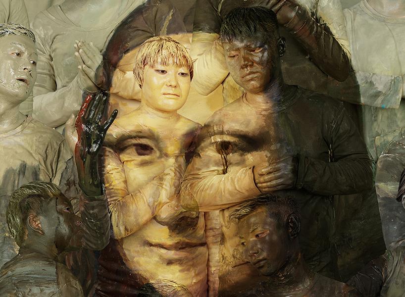 Новые работы на основе шедевров живописи от Liu Bolin