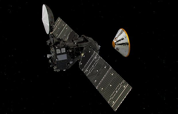Посадочный модуль «Скиапарелли» благополучно приземлился наМарсе