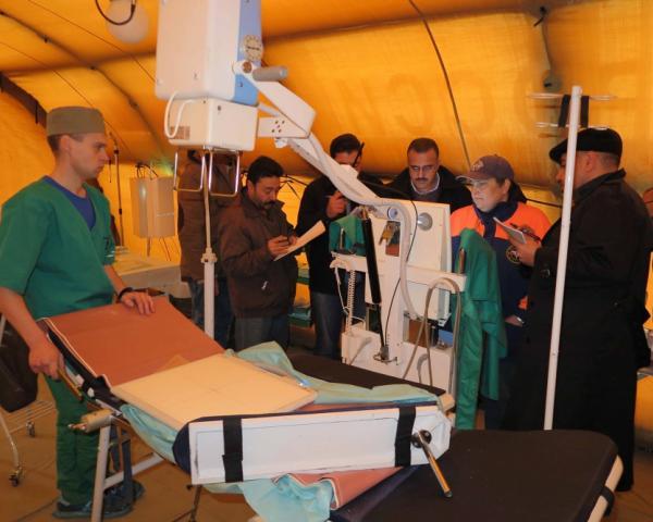 Сирия получила вподарок отМЧС Российской Федерации аэромобильный госпиталь