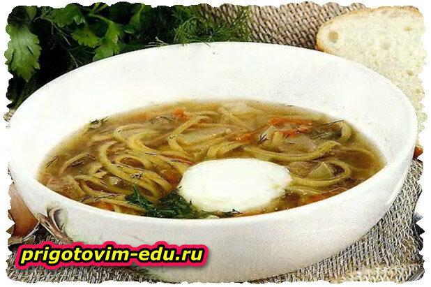 Грибной суп по-домашнему
