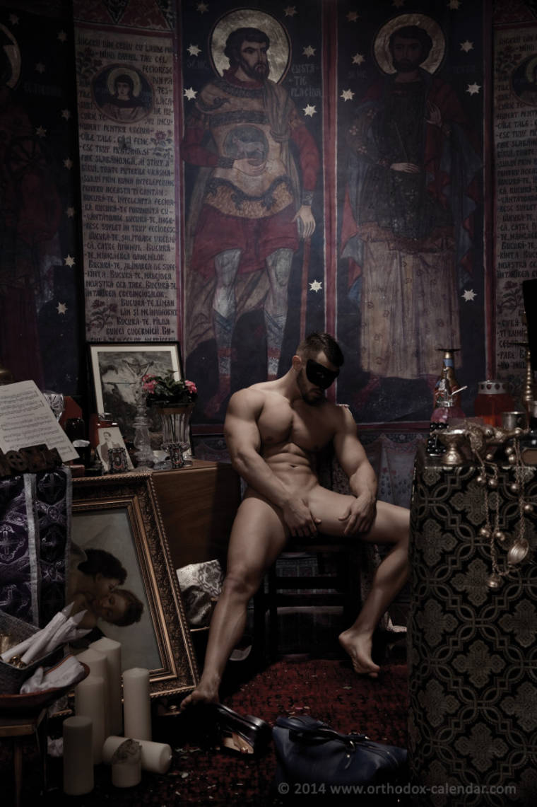 Orthodox Calendar - When sexy priests are posing naked for a good cause