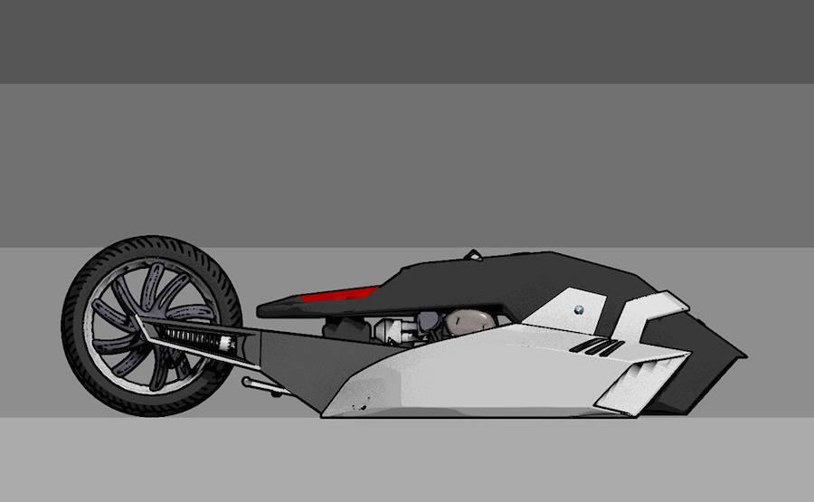 Brand New BMW Titan Concept Motorbike