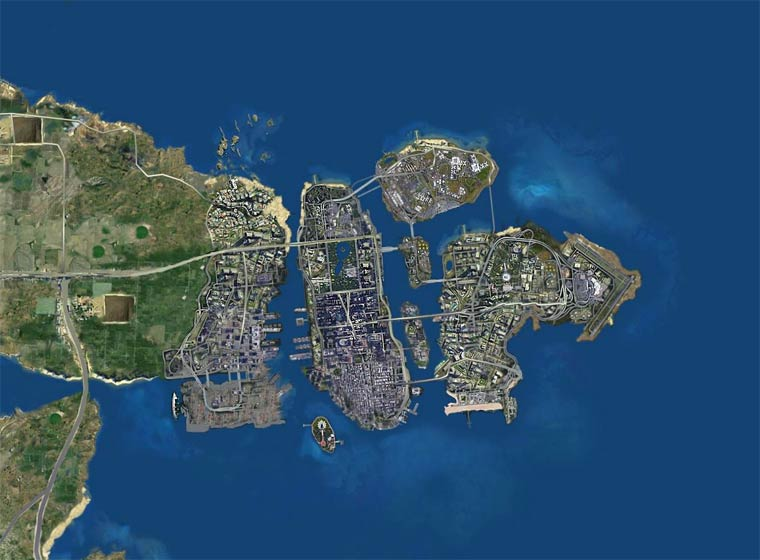GTA Ultimate Map - All the cities from the GTA games combined on a massive map