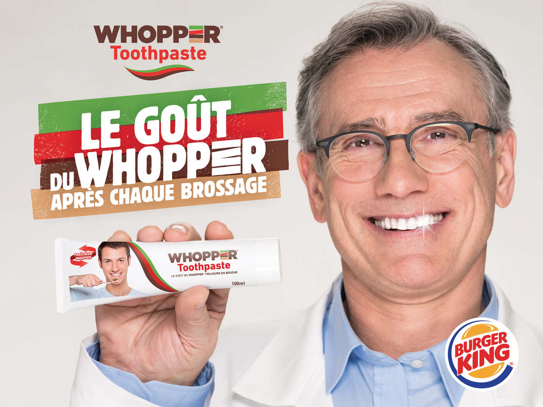 Burger King launches a Whopper flavored toothpaste