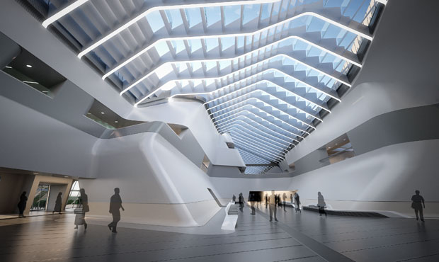 Napoli Afragola Station by Zaha Hadid Architects Phase 1 Wrapped