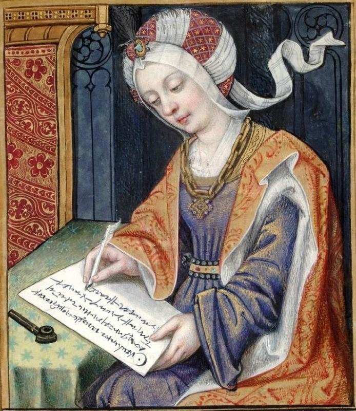 Penelope -- Huntington Library Ms HM 60, f°3 Les XXI Epistres des Dames illustres traduicttes d'Ovide par le Reverend Pere en Dieu Monseigneur l'Evesqu.jpg