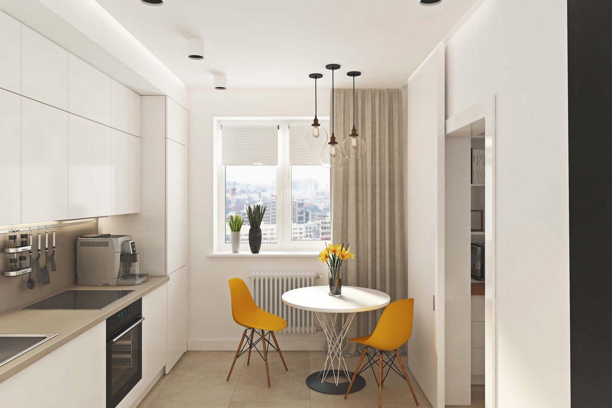 обеденный стол в маленькой квартире