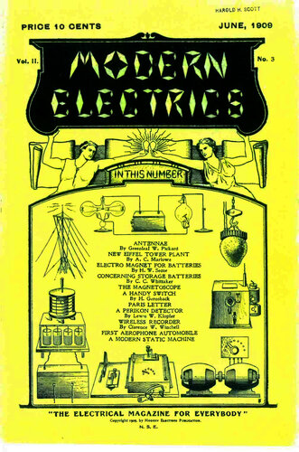 Modern Electrics: June 1909 - - Book Cover