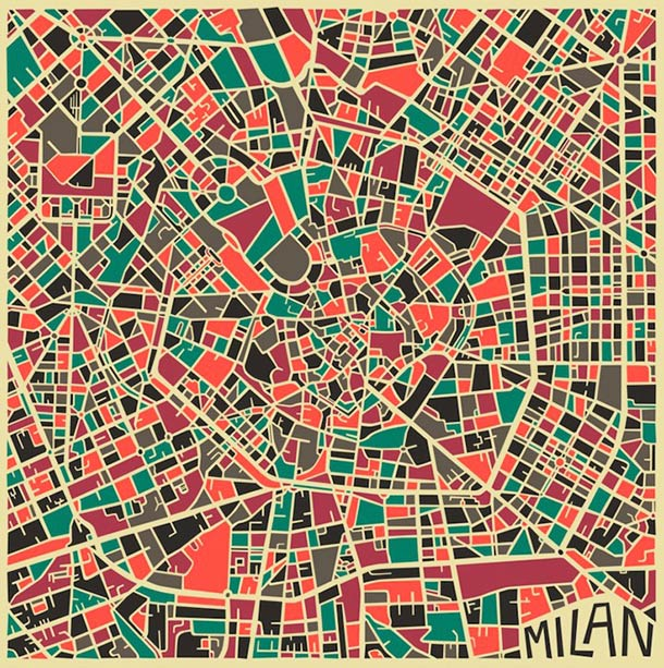 Abstract Cities - Les cartes stylisees des grandes villes