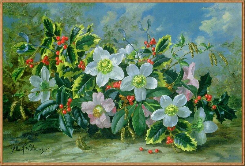 13 Рождественская роза (Christmas Rose)_х.,м._Частное собрание.jpg