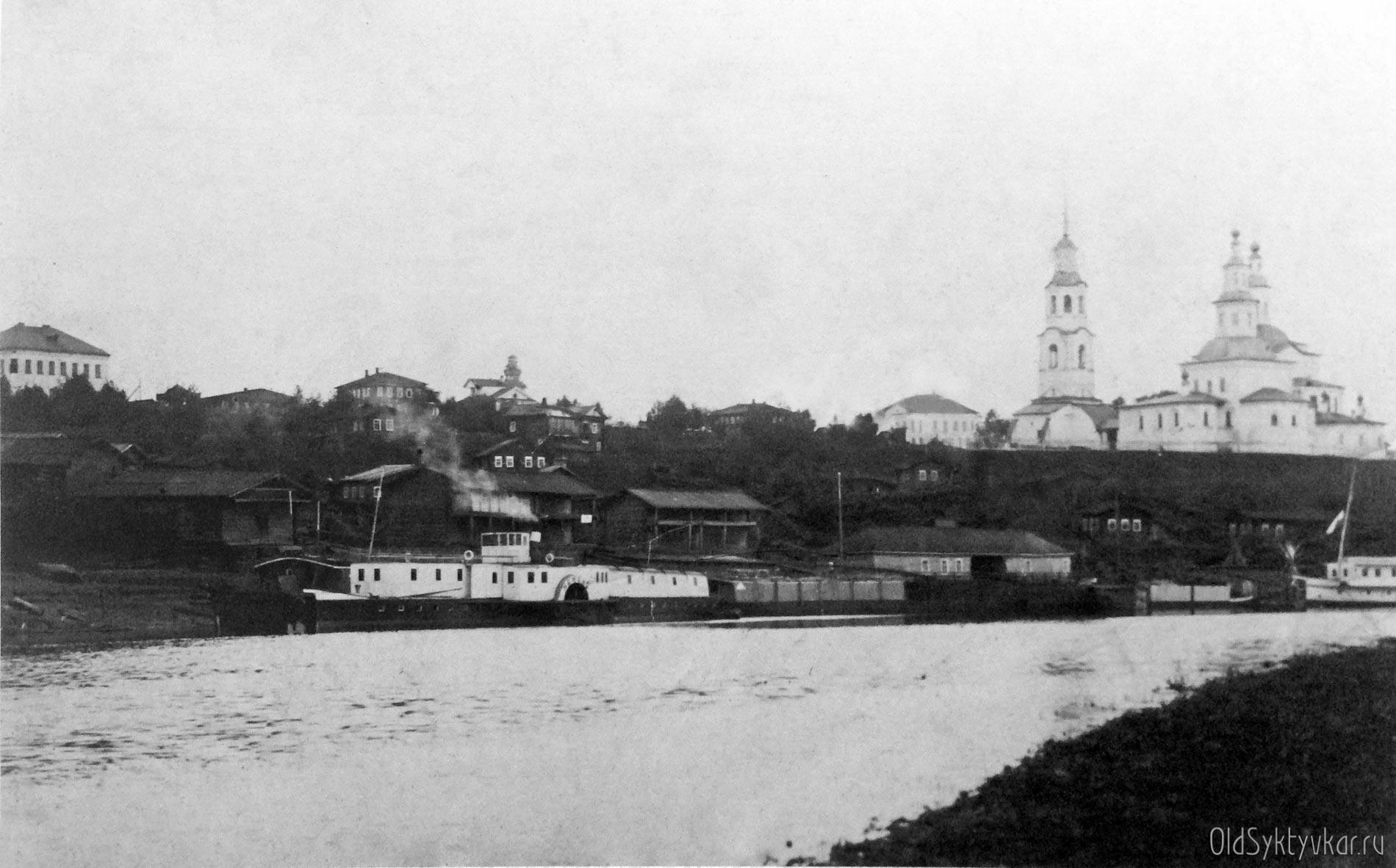 Пристань Усть-Сысольска с другого берега
