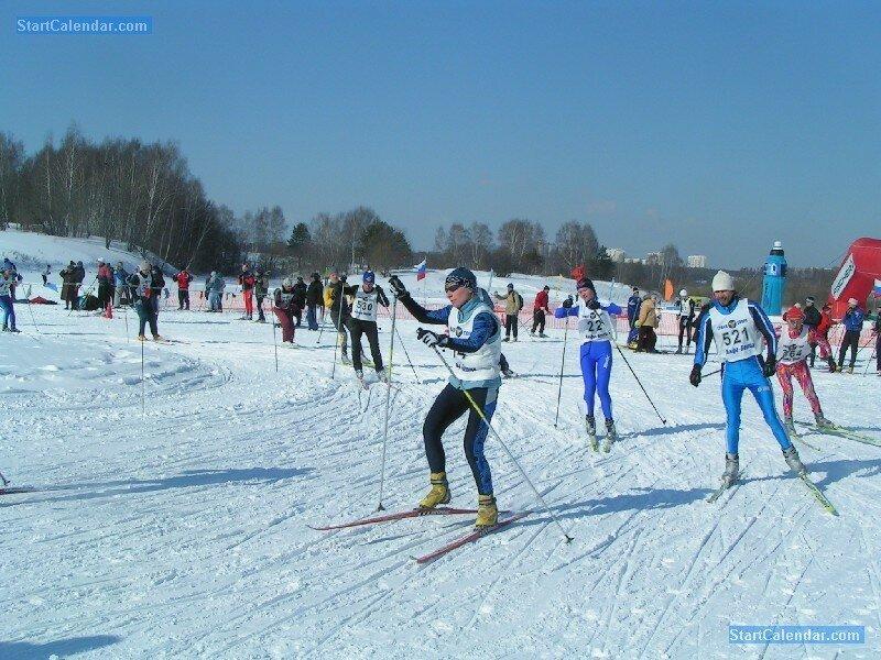 Лыжная трасса в Битце