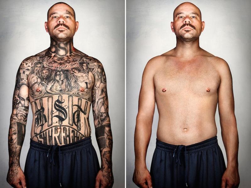 Бывшие члены банд с татуировками и без