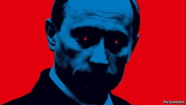 Вампир с истребителями в глазах: Английское издание разместило Путина у себя на обложке (фото)