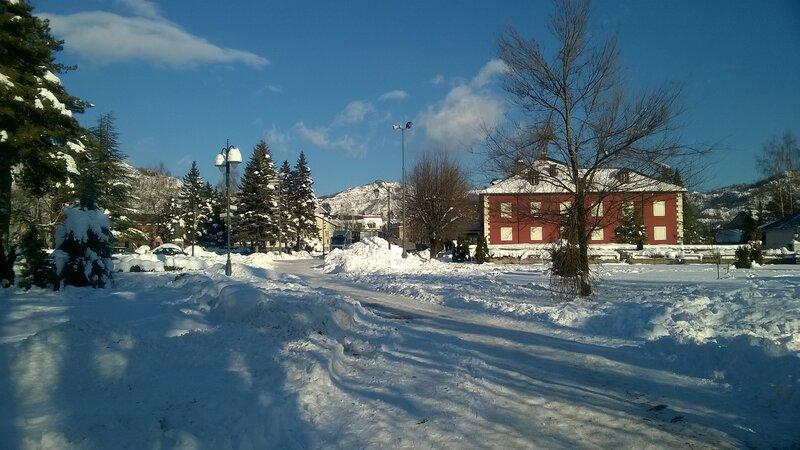 Цетинье зимой