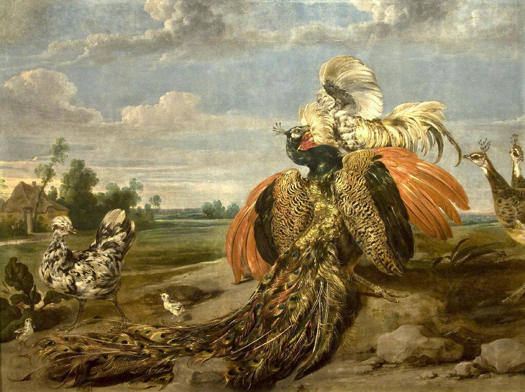 5. Пауль де Вос Бой павлина с петухом.jpg