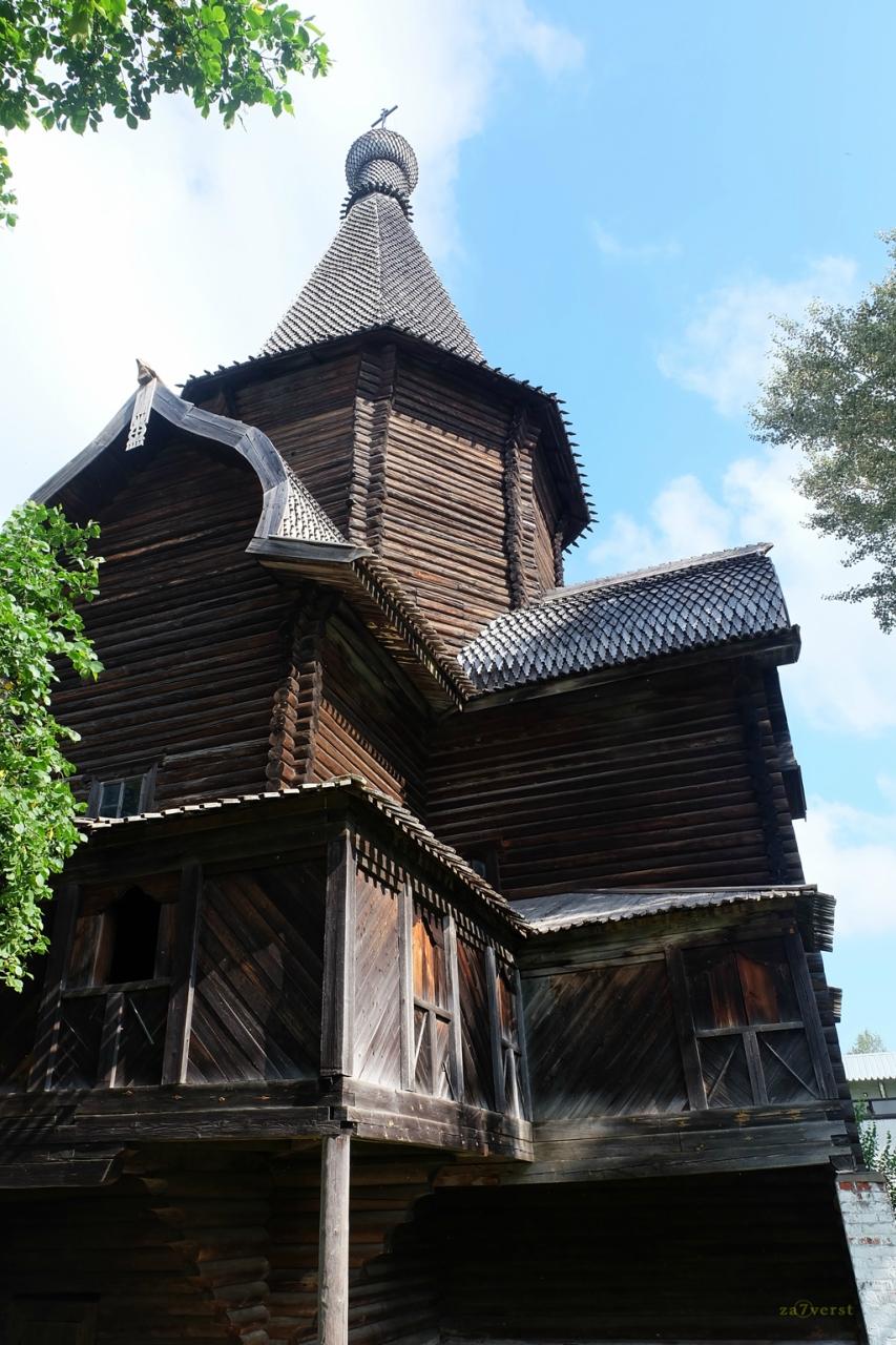 Свято-Прилуцкий монастырь в Вологде, деревянный храм