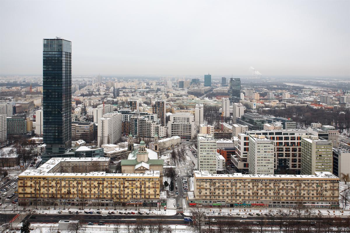 фото, фотографии, Варшава, сталинка, высотка, вид с, сверху