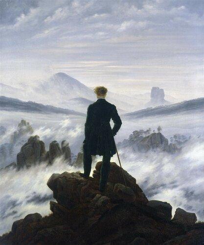 Caspar David Friedrich. Viandante sul Mare di Nebbia, 1818