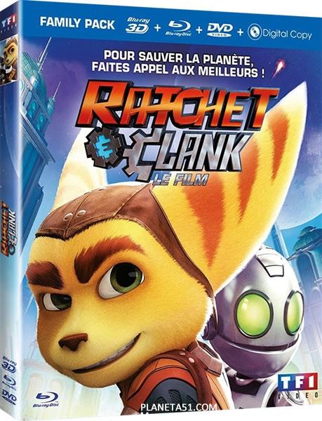 Рэтчет и Кланк: Галактические рейнджеры / Ratchet & Clank / 2016 / ДБ / 3D (HOU) / BDRip (1080p)