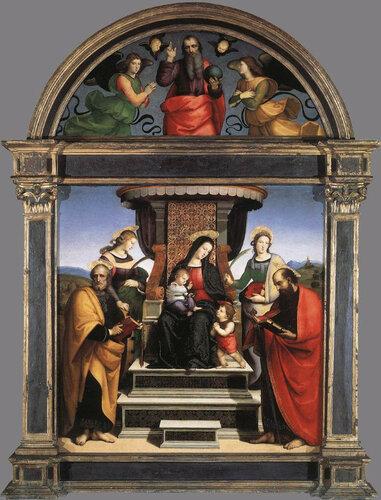 Рафаэль. Мадонна с младенцем и святыми