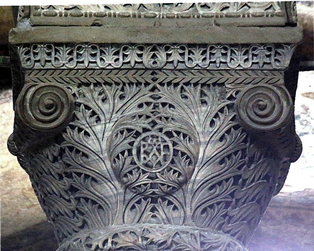 Istanbul. Hagia Sophia Cathedral. Columns