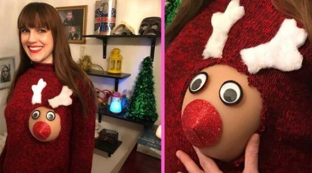 0 17ca47 bf74ea52 XL - Модная рождественская забава американок #reindeerboob