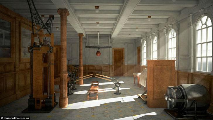 Несмотря на полностью современное оборудование, в спортзале «Титаника II» будут стоять тренажеры нач