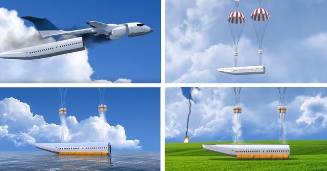 © youtube.com  Украинский авиаинженер Владимир Татаренко изобрел съемный корпус самолета, кото