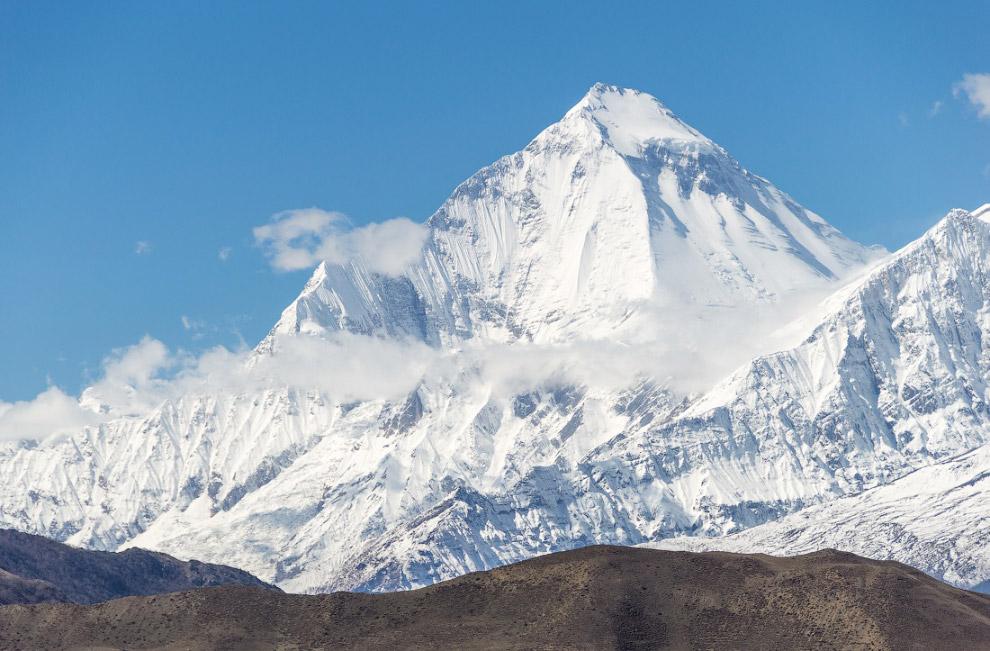 В переводе с санскрита дхавала или давала означает «белый», а гири — «гора».