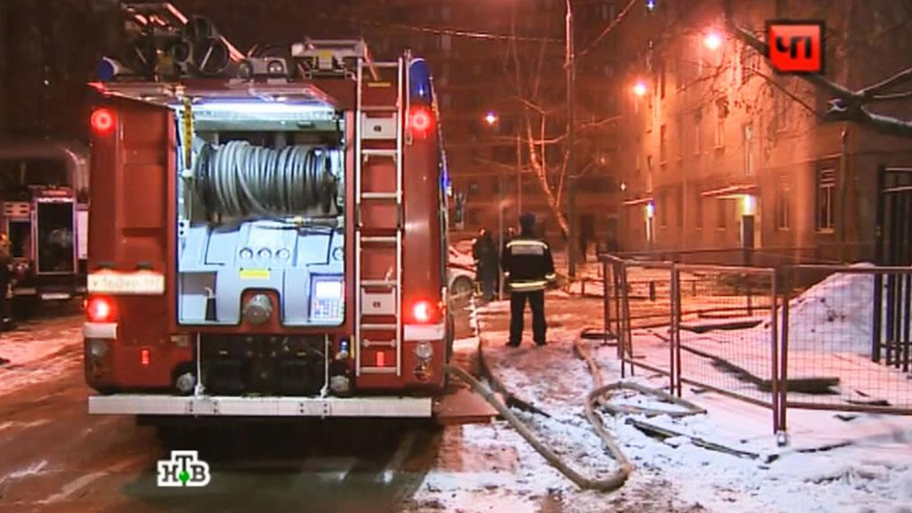Гостиница «Заря» загорелась насеверо-востоке столицы