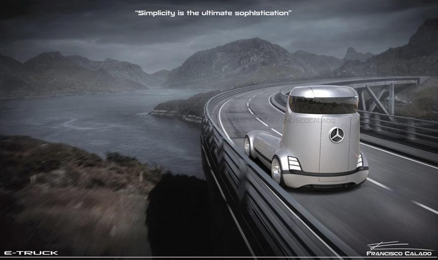 Benz E-Truck: Каким будет фургон будущего Мерседес