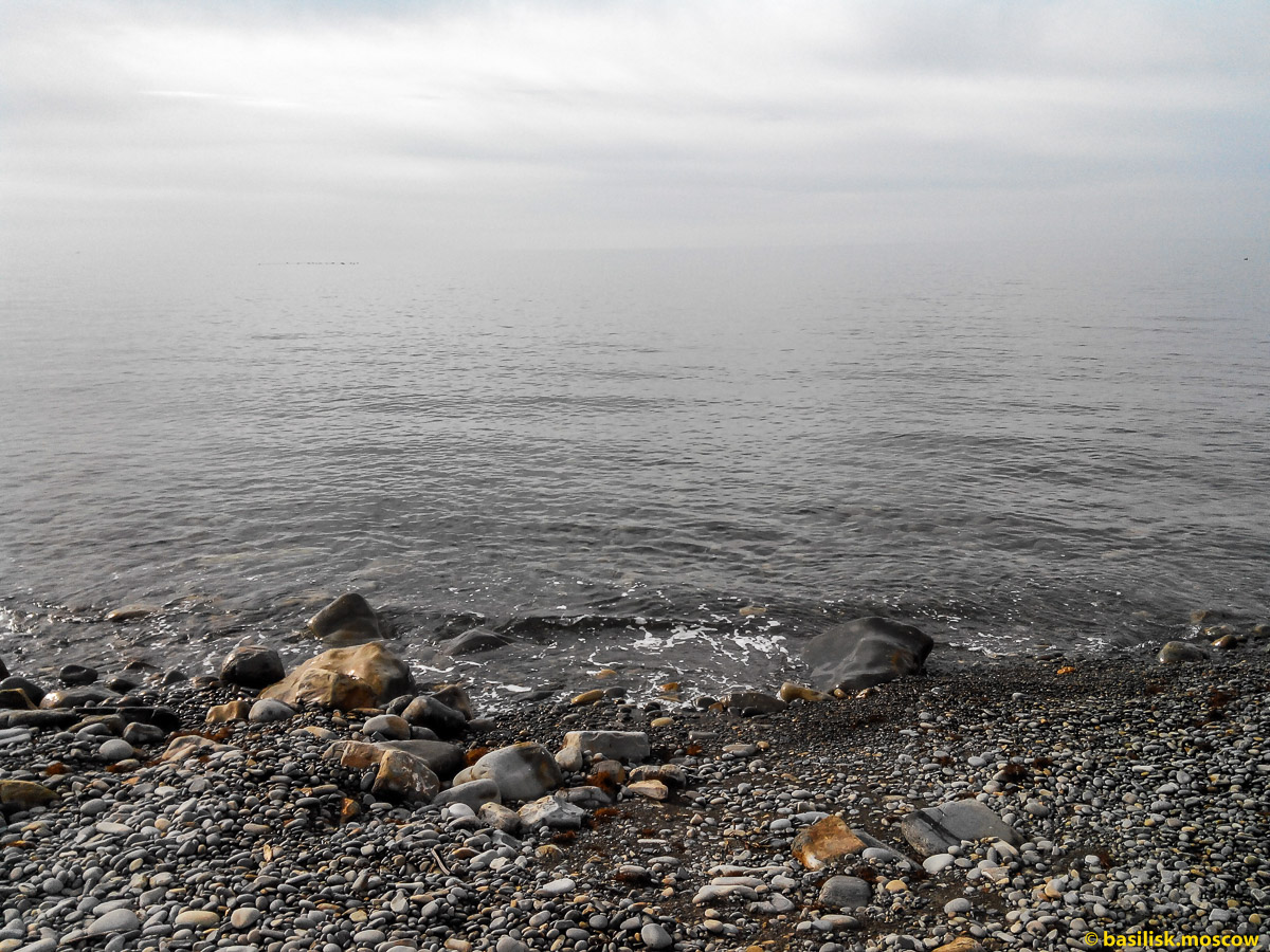 Туманное утро на Утрише. Третья лагуна. Октябрь 2016